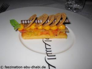 Kulinarische Spezialitäten im Restaurant beim Abu Dhabi Urlaub genießen.